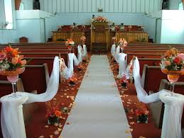 wedding aisle draping